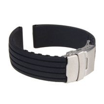 2018-New-Watch-Band-Silicone-Rubber-Watch-Strap-Band-Deployment-Buckle-W... - $6.84