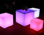 Floating Pool LED Lights Orbit Ball Cube Remote Outdoor Waterproof Garden Decor