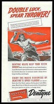 Dentyne Gum 1940 Print Ad Stone Age Caveman Spear Hunter - $10.99