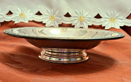Vintage ONEIDA Silversmiths Silver Plated Footed Nut Candy Serving Bowl Dish