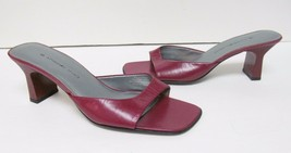 BANDOLINO Canapes Leather Heels Sandals Slip On Shoes Red Women's Size 7 M - $29.86