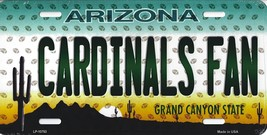 Cardinals Arizona State State Background Metal License Plate (Cardinals ... - $11.95