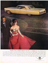 Vintage 1963 Magazine Ad Cadillac When You First Drive Up You're Seen New Light - $5.93