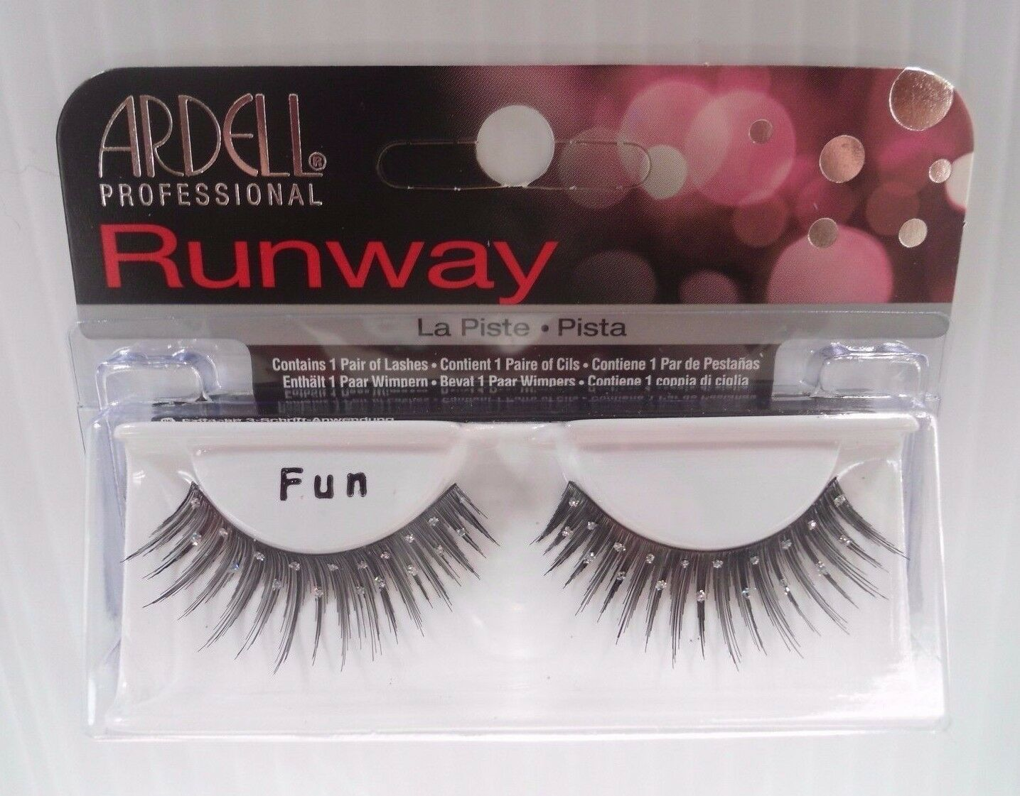 Primary image for Ardell Runway Strip Lashes Fun -Two Rows Glitter Dots (Pack of 2)
