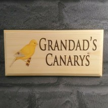 Personalised Canary Sign, Custom Aviary Plaque Grandads Bird Shed Wooden Gift - $17.47