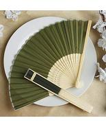 Wholesale Silk Folding Wedding Party Favor Fans Willow Green YSefa - $131.68