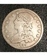 1834 Capped  Bust Quarter Scarce - Only 286,000 Minted - $127.71