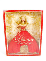 NRFB 2014 HOLIDAY Christmas BLONDE BARBIE Doll Collector Mattel Inc NEW - $34.64