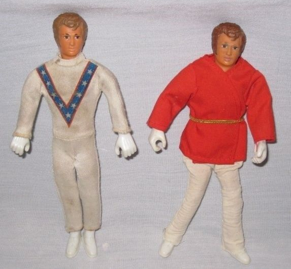 "NEAT Pair Vintage 1972 7"" Ideal EVEL KNIEVEL Dolls"
