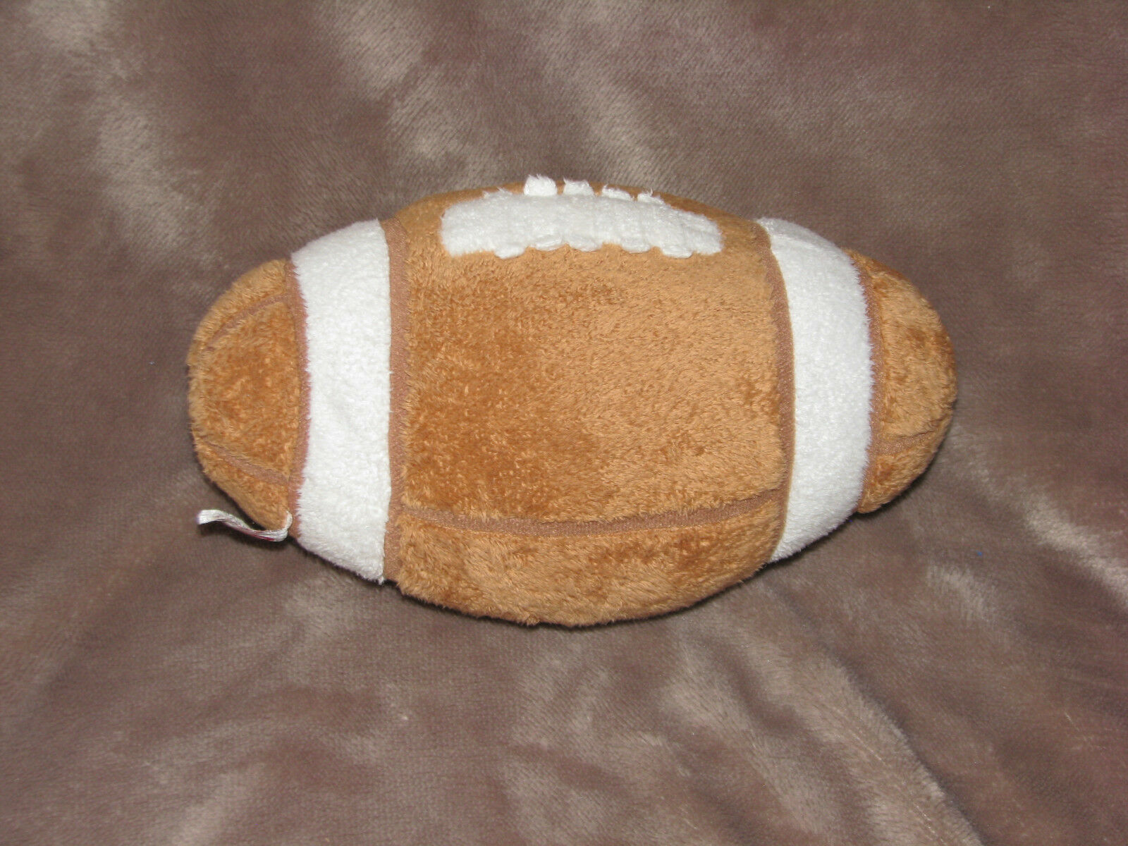 Primary image for TY PLUFFIES STUFFED PLUSH BROWN TAN FOOTBALL TOY 2005 9""