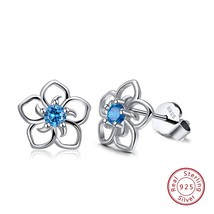 Effie Queen 925 Real Sterling Silver Women Stud Earrings Flower Pattern ... - $17.78