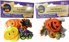 36 3D Felt Stickers for Halloween Stitched Bundle of 2 Packages (Pumpkin... - $9.89