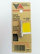 "Vermont American #22550 Flush 22 Degree Bevel Carbide 1/4"" Shank Router Bit - $4.74"