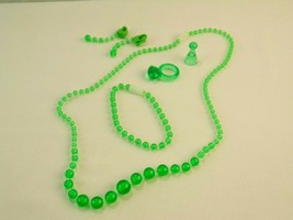Pretty Pretty Princess Game Replacement GREEN Ring Earrings Bracelet Necklace - $11.39
