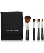New The Body Shop Mini Brush Kit Blusher Shadow Eyebrow Lip Brushes Set ... - $9.80
