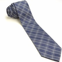 Navy Plaid Silk Tie | Banana Republic Blue Slim Necktie - $49.49