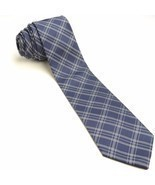 Navy Plaid Silk Tie | Banana Republic Blue Slim Necktie - £39.10 GBP