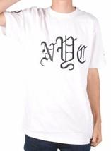 1183ml Quaranta Ounce Nyc Uomo Bianco Nero Ricamato Old English New York T-Shirt