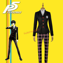 Game Persona 5 Cosplay Protagonist Unifrom Coat Shirt Pants Custom Costume - $45.99