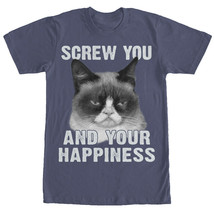 Grumpy Cat Screw Your Happiness Mens Graphic T Shirt - $10.99