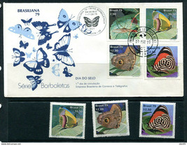 Brazil 1979 FDC Moths Cover+3 stamps 11443 - $5.94