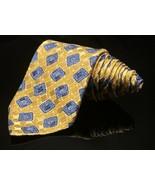 Robert Talbott Neck Tie Best Of Class Yellow Gold  Blue Bright Abstract - $50.60