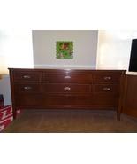 MCM Mid Century Modern 8 Drawer Dresser 3 Triple Dixie Wood 63.5x30x19 n... - $569.73