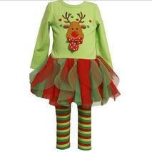2017 Christmas Girls  Clothing  Deer Jeans Girl Striped Pants Dress 2 Se... - $21.99