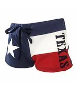 TEXAS FLAG Shorts Womens Fleece Drawstring Cover Up Beach Booty Running USA - $14.95