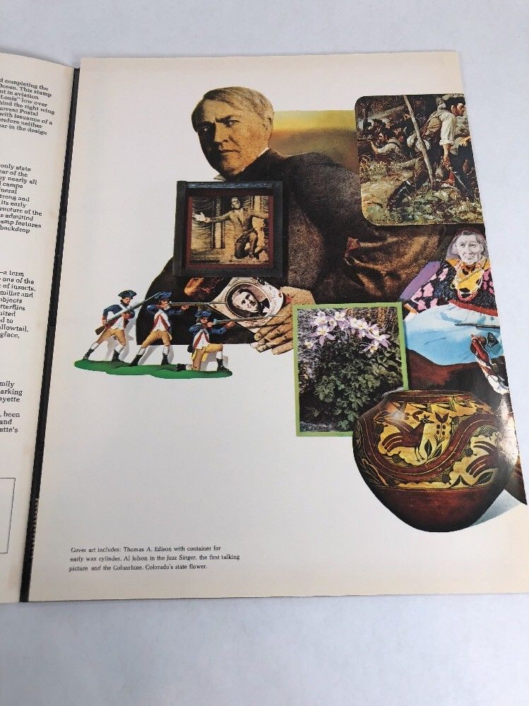 1977 Mint Set Commemorative USPS Souvenir Yearbook Album with Stamps