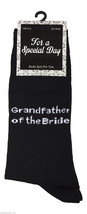 1 Pair Mens Black Wedding Socks 6-11 Uk 39-45 Eur - Grandfather of the Bride - $3.89
