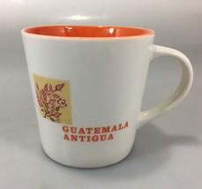Starbucks Guatemala Antigua Latin America Map Coffee Mug Cup 16 oz 2005 Orange - $37.73