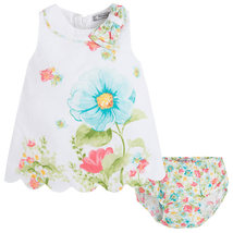 Mayoral Baby Girl 3M-24M Aquamarine/white Floral Print A-line Cotton Dress    image 2