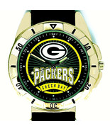 Green Bay Packers NFL Fossil New Unworn Mans Rare Vintage Leather Band W... - $84.00