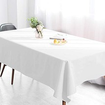 Wimaha 52x70In Solid White Rectangle Tablecloth for Rectangular Table, F... - $23.52