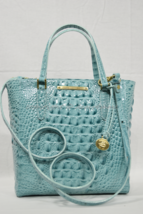 Brahmin Leather Harrison Carryall Satchel/Shoulder Bag in Glass Glossy M... - $199.00