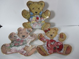 Franklin Mint Teddy Bear Plates Heirloom Recommendation Set of 3 Fine Porcelain - $19.79