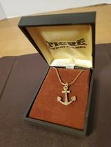Vintage Tigre Nautical Anchor Necklace - $19.95