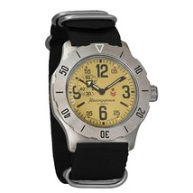 Vostok Komandirskie K-35 350749 Mechanical Auto Self-Winding Mens Milita... - $76.99