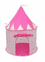 Pink Princess Castle Popup Play Tent Large Indoor Outdoor Playhouse Carr... - $47.61