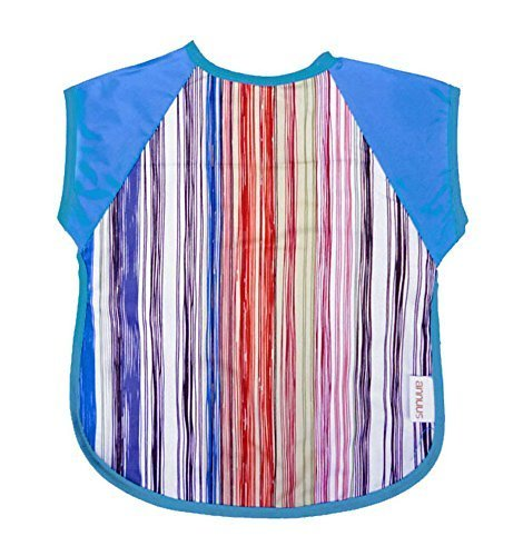 Summer Cotton Waterproof Short Sleeved Bib Baby Feeding Smock COLORFUL, 1-3Years