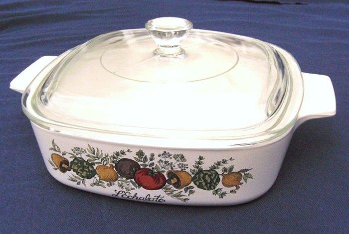 Corning Ware A-1-B 1-quart LEchalote Spice of Life Corningware Bake Dish