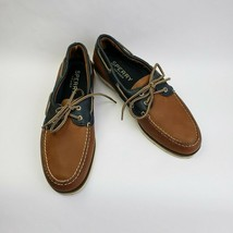 Sperry Top Sider Shoes Brown Blue Lace Up Mens Size 10 M - $44.50
