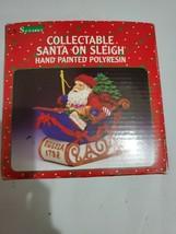 C.R Seasons Collectable Santa on Sleight Hand Made Polyresin Figure Russ... - $34.16