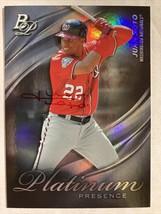 Juan Soto Signed Card, 2019 Topps Platinum Presence #PP-9, Holographic R... - $210.00