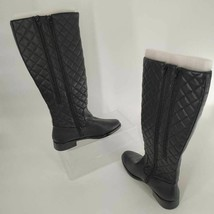 Aerosoles Womens Establish Quilted Riding Boots Black Knee High Zipper 8.5 M New - $157.52