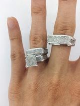 1.50 Carat Diamond His & Her Trio Matching Wedding Ring Set 14K White Gold FN - $169.99