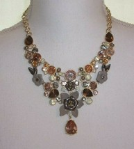 Simply Vera Wang Flower & Faceted Stone Statement Necklace - $24.00