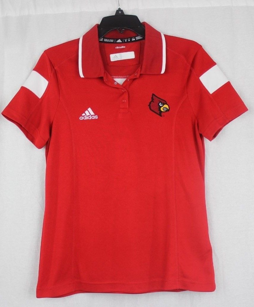Primary image for Adidas polo shirt women's Louisville cardinals red school logo size M