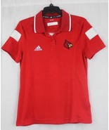 Adidas polo shirt women's Louisville cardinals red school logo size M - $17.59
